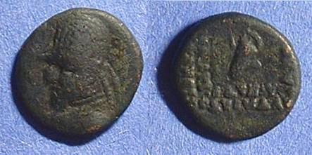 Ancient Coins - Parthian Empire - Orodes I - 90-80BC AE Chalkous