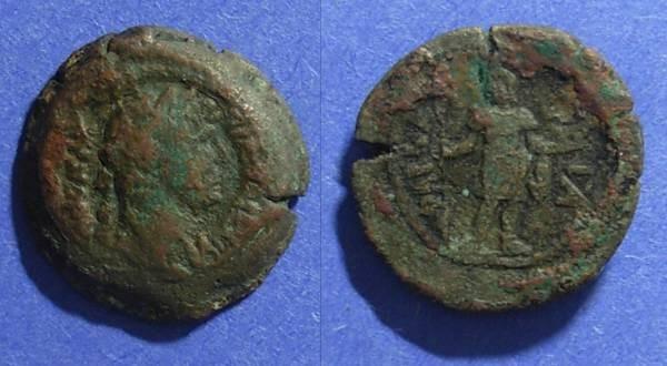 Ancient Coins - Roman Egypt - Pharbaetites Nome, Hadrian 117-138, Obol