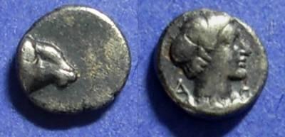 Ancient Coins - Halicarnassos Caria Circa 380 BC Hemiobol