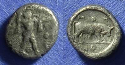 Ancient Coins - Poseidonia Lucania Diobol 480-440 BC