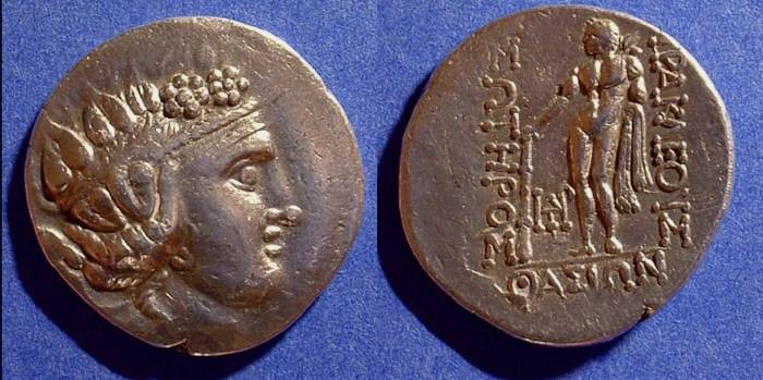 Ancient Coins - Thasos - Tetradrachm - under Roman rule (148BC on) - Thracian imitation
