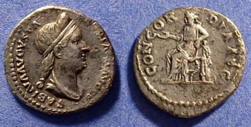 Ancient Coins - Sabina (wife of Hadrian) 117-138 Denarius