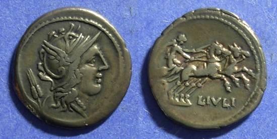 Ancient Coins - Roman Republic L Julius 101 BC Denarius