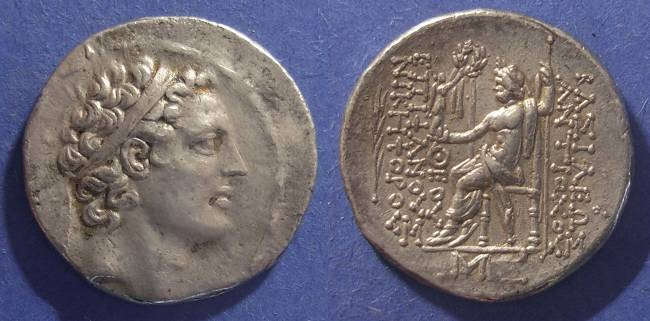 Ancient Coins - Seleucid Kingdom, Antiochos IV 175-164BC, Tetradrachm