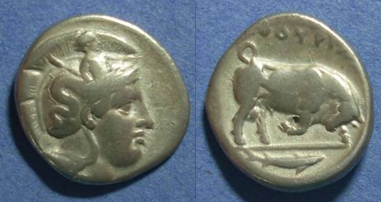 Ancient Coins - Thourioi, Lucania 350-300 BC, Nomos