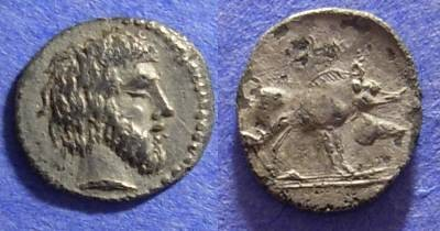 Ancient Coins - Abakainon Sicily - Litra Circa 420 BC