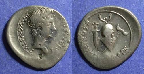 Ancient Coins - Roman Empire, Augustus 27 BC - 14 AD, Denarius