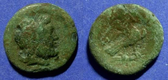 Ancient Coins - Syracuse Sicily, Roman rule Circa 200 BC, AE20