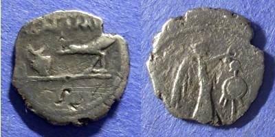 Ancient Coins - Roman Imperatorial, Marc Antony 43 BC, Quinarius