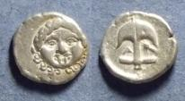 Ancient Coins - Thrace, Apollonia Pontika Circa 375 BC, Drachm