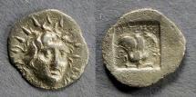 Ancient Coins - Rhodes, Artemon (Magistrate) 170-150 BC, Hemidrachm