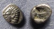 Ancient Coins - Ionia, Kolophon 530-500 BC, Tetartemorion