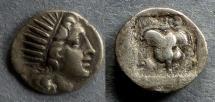 Ancient Coins - Islands off of Caria, Rhodes Circa 150 BC, Drachm
