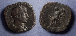Ancient Coins - Roman Empire, Volusian 251-3, Sestertius