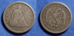 Us Coins - United States,  1875-S, Silver 20 Cents