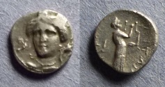 Ancient Coins - Thessaly, Metropolis Circa 350BC, Obol