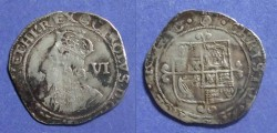 World Coins - Great Britian, Charles I 1625-49, Six Pence