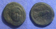 Ancient Coins - Chalkis, Euboea Circa 325 BC, AE12