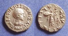 Ancient Coins - Bactrian Kingdom, Menander 155-130 BC, Drachm