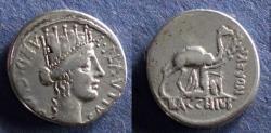 Ancient Coins - Roman Republic, A Plautius 55 BC, Denarius