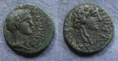Ancient Coins - Aeolis, Temnus, Gaius Asinius Gallus 6-5 BC, AE16