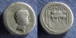 Ancient Coins - Roman Republic, L Livineius Regulus 42 BC, Denarius