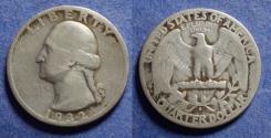 Us Coins - United States,  1932-S, Silver Washington Quarter, VG