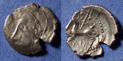 Ancient Coins - Celtic Gaul, Bituriges Circa 50 BC, Silver Quinarius