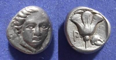 Ancient Coins - Rhodes,  408-390 BC, Hemidrachm