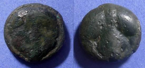 Ancient Coins - Selinos, Sicily 435-415 BC, Tetras