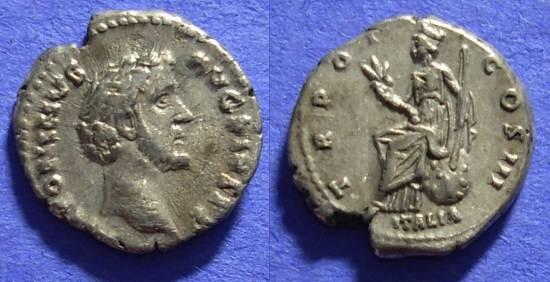 Ancient Coins - Antoninus Pius 138-161AD Denarius – Italia reverse