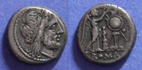 Ancient Coins - Roman Republic, Anonymous 208 BC, Victoriatus