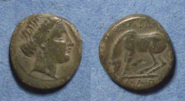 Ancient Coins - Larrisa, Thessaly 380-337 BC, Dichalkon