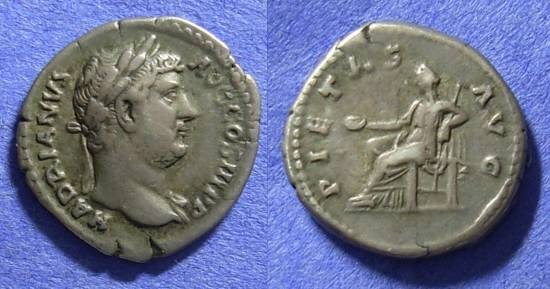Ancient Coins - Roman Empire - Hadrian 117-138AD - Denarius