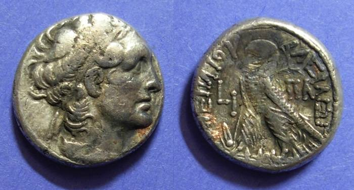Ancient Coins - Egypt, Cleopatra VII 50-30 BC, Tetradrachm