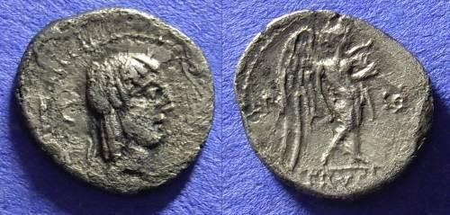 Ancient Coins - Roman Republic - Quinarius 90 BC - Calpurnia 13
