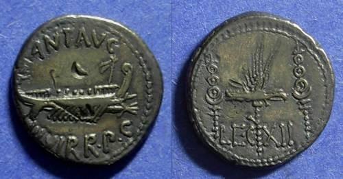 Ancient Coins - Rome Marc Antony Struck 31-30 BC Denarius Legion XII