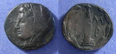 Ancient Coins - Ambrakia, Epeiros Circa 100 BC, AE18