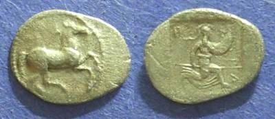 Ancient Coins - Perrhaiboi, Thessaly 450-400 BC, Obol