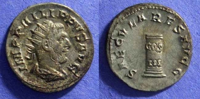 Ancient Coins - Philip I – 244-249AD Antoninianus of the Saecular games