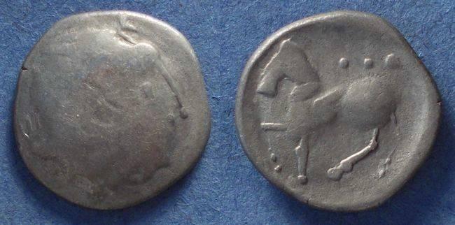 Ancient Coins - Celtic, Carpathian region (Cotini?) Circa 250 BC, Tetradrachm