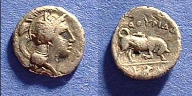 Ancient Coins - Thourioi Lucania Diobol Circa 380-281 BC