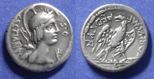 Ancient Coins - Roman Republic, M Plaetorius Mf Cestianus 69 BC, Denarius