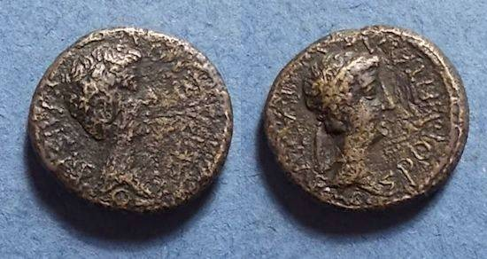 Ancient Coins - Kings of Thrace, Rhoemetalkes 11 BC-12 AD, AE18