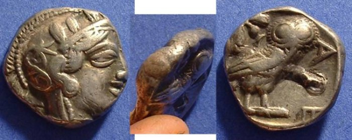 Ancient Coins - Athens Tetradrachm 449-413 BC
