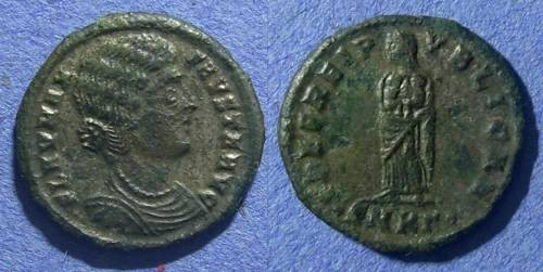 Ancient Coins - Roman Empire, Fausta d.327, AE3