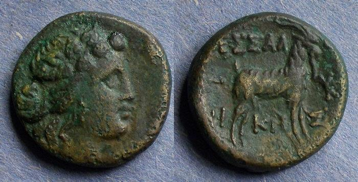 Ancient Coins - Macedonia, Thessalonica 187-31 BC, AE19