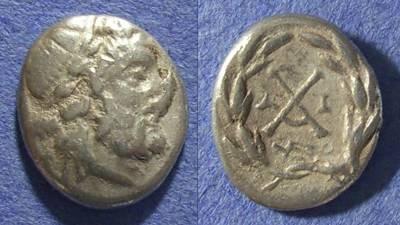 Ancient Coins - Achaian League, Patrai Achaia 175-168 BC, Hemidrachm