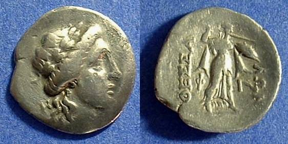 Ancient Coins - Thessalian League 196-146 BC Drachm