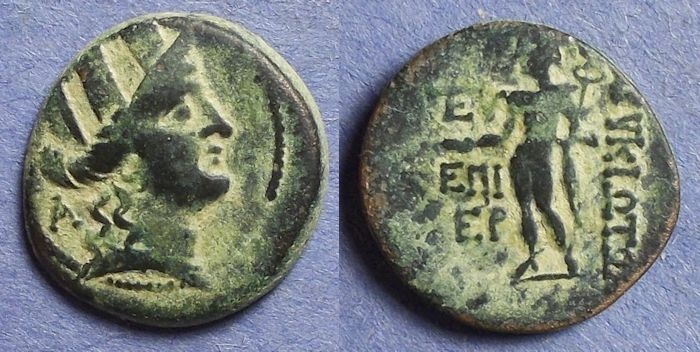 Ancient Coins - Korykos, Cilicia Circa 100BC, AE21